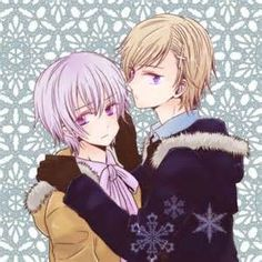 hetalia_NorIce (Norway x Iceland). Beautiful picture, even if I don't ship these two...