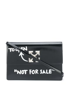 Black 2.8 Jitney bag from OFF-WHITE featuring text print to the front, text print to the rear, press release Arrows fastening, adjustable detachable shoulder strap, rounded top handle, main internal compartment and pocket to the rear. Off White, Designer Bags On Sale, Purse Styles, Bag Sale, Purses And Bags, Shoulder Strap, Black Leather, Press Release, Arrows