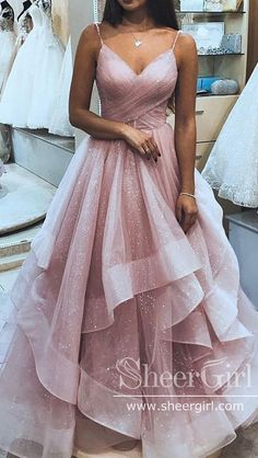Cute Pink Ruffly Vintage Long Prom Dresses Outfit Ideas for Graduation for Teens. - Cute Pink Ruffly Vintage Long Prom Dresses Outfit Ideas for Graduation for Teens Source by lebensgefuehle - Prom Dresses Long Pink, Pretty Prom Dresses, Hoco Dresses, Formal Evening Dresses, Ball Dresses, Sexy Dresses, Beautiful Dresses, Summer Dresses, Party Dresses
