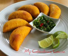 Like many Colombian snacks this can be a main meal or just an appetiser. This is my version of the beef pasties, but different flavour and dips can be Colombian Dishes, Colombian Food, My Colombian Recipes, Mexican Food Recipes, Beef Recipes, Cooking Recipes, Healthy Recipes, Beef Empanadas, Empanadas Recipe