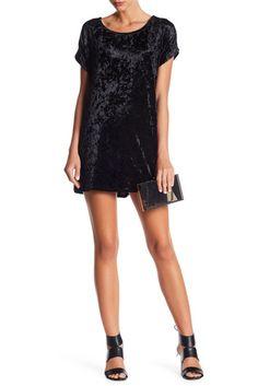 Vanity Room - Velvet Cuffed Sleeve T-Shirt Dress New Years Eve Dresses, Nye Dresses, Vanity Room, Top Designer Brands, Crushed Velvet, Cuff Sleeves, Nordstrom Dresses, Dresses Online, Classic T Shirts