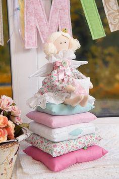 Tilda Doll - The Princess and the Pea. Interior Textile Cloth Doll, handmade