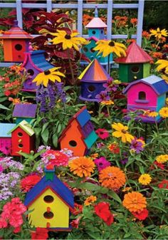 If I was a bird I would get attracted to those bird houses!