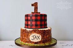 Lumberjack Buffalo Plaid Themed Cake Amp Smash Cake