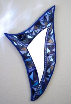 Violet Surprise Glass Mosaic Wall Mirror by delcialitt on Etsy, $125.00