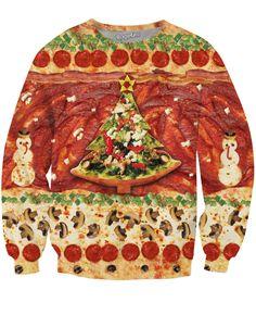 All I Want for Christmas is Pizza Crewneck Sweatshirt