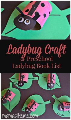 Toilet Roll Ladybug Craft & Preschool Ladybug Book List - Mamas Like Me