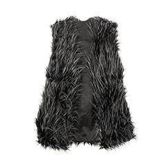 Etosell Lady Faux Fur Vest Waistcoat Long Hair Winter Warm Coat Outwear