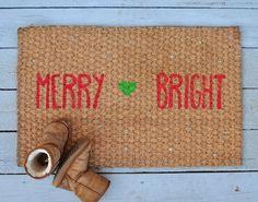 make your own christmas doormat