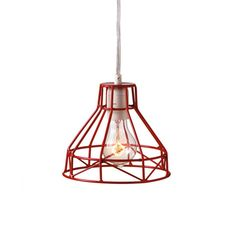 Kelley Wire Pendant in Red