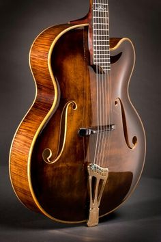 Scharpach Archtop Jazz guitar. Absolutely stunning finish.