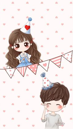 รูปภาพ art, drawing, and art girl Cute Chibi Couple, Cute Couple Cartoon, Cute Love Cartoons, Girl Cartoon, Cute Cartoon, Anime Chibi, Kawaii Anime, Mode Poster, Cute Love Images