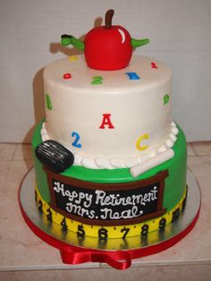 Graduation Cake but maybe only the bottom layer with math symbols on it?