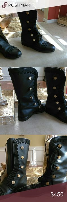 Authentic Gianni Versace boot Beautifully? crafted, genuine leather lace up boots Gianni Versace Shoes Combat & Moto Boots