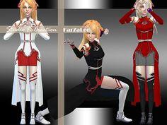 Studio K Creation: Sword art online – Asuna • Sims 4 Downloads