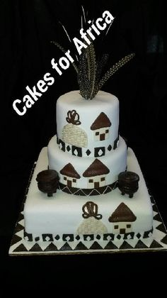 cakes for africa African Wedding Cakes, African Wedding Theme, African Weddings, Blaze Birthday Cake, Cupcake Birthday Cake, Cupcake Cakes, Cupcakes, African Traditional Wedding, Traditional Wedding Cakes