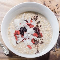 [Photo By: studiopri.com] Today's #sneakpeek: raw steel cut oats with plumped currants, cacao nibs, goji berries, and shaved coconut ⚡️⚡️We hear it pairs well with your morning ☕️☕️ #goodmorning #comingsoon #dirt #dirteatclean #delicious #foodporn #foodmatters #local #organic #sustainable #healthy #farmtotable #farmtocounter #soflo #miami #miamibeach #southbeach #sobe #sofi #305 #vegetarian #vegan #grassfed #juice #coldpressedjuice #coffee