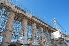 #andamios en el Partenón
