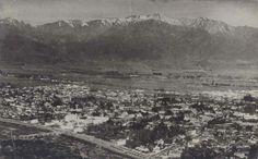Panorámica de Santiago de Chile en el año 1948.