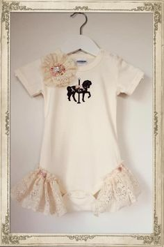 Oopsidaisi Couture French Carousel Romper. Cute.