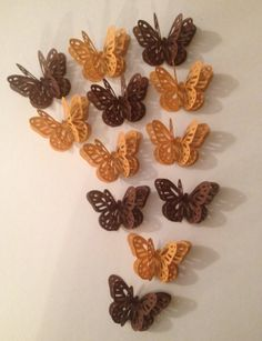 Shades Of Fall 3D Butterflies by MonAmiePaperie on Etsy, $7.44