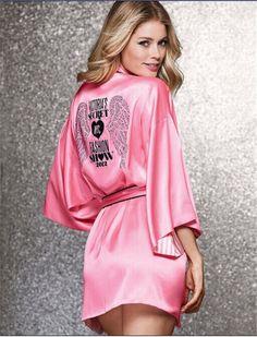 Sexy Nightgowns Faux Silk Nighties Women Sexy Robe Lace Hot Diamond Sleepwear Sexy Satin Sleepwear