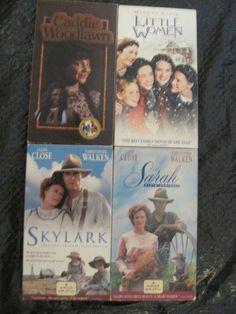 Lot of 4 Girl Books/Reading VHS Movie Adaptations Sarah, Skylark, Caddie, Women
