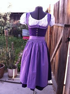 Purple dirndl