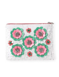 Love it!  Pretty Sequin Pouch AM233 Handbags, Clutches & Wallets at Boden