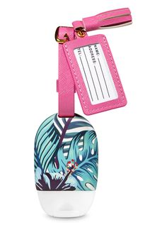 Luggage Tag PocketBac Holder by Bath & Body Works Bath N Body Works, Bath And Body Works Perfume, Mini Things, Cool Things To Buy, Pink Luggage, Bff Birthday Gift, Hand Sanitizer Holder, Baby Slippers, Fun Crafts For Kids