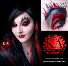 Devil Halloween Makeup (with Tutorial) by KatieAlves.deviantart.com on @DeviantArt