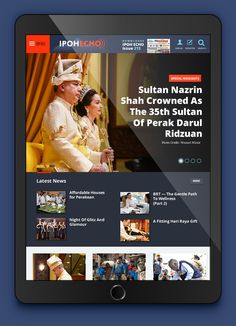 Newspaper Mobile App User Interface Design for Ipoh Echo