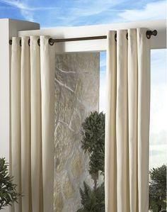 Indoor Outdoor Decorative Curtain Rod  Home And Garden Design Ideas