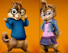 Alvin and the Chipmunks Simon and Jeanette | Posted by Jasmine at 10:12 AM