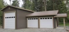 Garage built by Spane Buildings in Puyallup Washington State