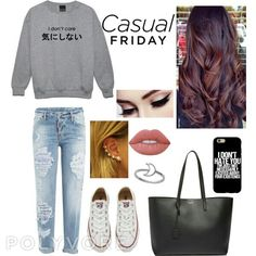 Casual friday on Polyvore! Made by Me  #polyvore #casual #friday #outfit #swarshirt