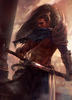 Yasuo, Mazert Young on ArtStation at https://www.artstation.com/artwork/Navb5