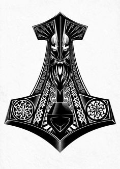 Thousands ideas which viking tattoo to choose and what is its meaning Getting a Viking tattoo, but why? No, rather, because their story is fascinating. The Vikings were an ethnic group from Scandina. Viking Tattoo Sleeve, Viking Tattoo Symbol, Norse Tattoo, Viking Tattoo Design, Celtic Tattoos, Viking Tattoos, Sleeve Tattoos, Tattoo Symbols, Thor Hammer Tattoo