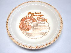 Pie Pan Royal China Decorative Plate Apricot by sweetie2sweetie, $19.99