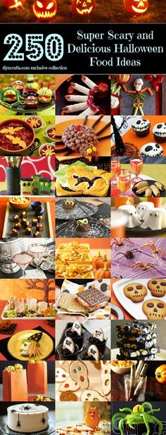 Top 250 Scariest and Most Delicious Halloween Food Ideas. I don't think food could ever scare me (; Recetas Halloween, Soirée Halloween, Halloween Goodies, Halloween Food For Party, Halloween Birthday, Halloween Treats, Halloween Recipe, Halloween Cupcakes, Halloween Clothes
