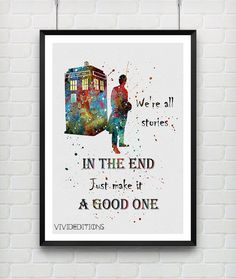 Quote from Tardis Doctor Who Poster Watercolor by VIVIDEDITIONS