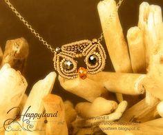 Gufo macramè pendant pattern by Happyland87 on Etsy
