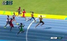 Nigeria's 200m champion Divine Oduduru finished 2nd behind Usain Bolt in the Mens 200m Heat race at the Olympics today August 16th. Odurudu finished in a record time of 20.34 while Usain Bolt finished at 20.28. Usain Bolt Justin Gatlin Yohan Blake and Divine have advanced to the 200m semi-finals.The race in the ninth heat is the fastest time for a Nigerian athlete in history. The semi-finals take place at 02:00 BST on Thursday.