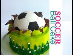 Soccer ball cake - Football cake - How to make a ball topper - YouTube