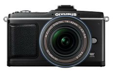 Olympus PEN E-P2 12.3 MP Micro Four Thirds Interchangeable Lens Digital Camera with 14-42mm f/3.5-5.6 Zuiko Digital Zoom Lens and Electronic View Finder by Olympus. $799.99. From the Manufacturer                 The new PEN, like the E-P1, is the world's smallest 12.3-megapixel interchangeable lens system with In-body Image Stabilization. It blends the high-quality still images like that of a DSLR with High Definition (HD) video, stereo Linear PCM audio recording and In-Camera...