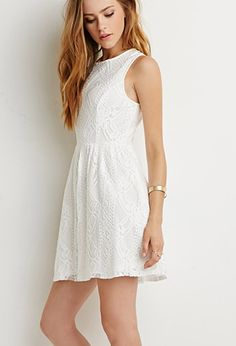 Lace Fit & Flare Dress | Forever 21 - 2000156291