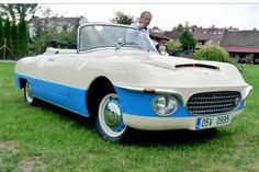 Škoda 440 Karosa from rare car from Czechia Funny Looking Cars, Vintage Cars, Antique Cars, Veteran Car, Car Camper, Cabriolet, Fiat 500, Car Brands, Automotive Design