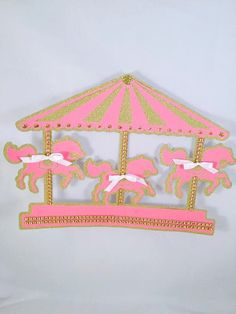Carousel Horse Party - Carousel Horse Decoration - Carousel Wall Decoration - Birthday Party - Baby Shower - Circus Party - Customized