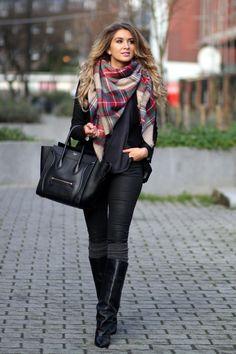 77aa7054262b Echarpe hiver chaude pour homme, femme qui ne gratte pas. Mode Femme HiverÉcharpe  PlaidMode HivernaleLooks ...
