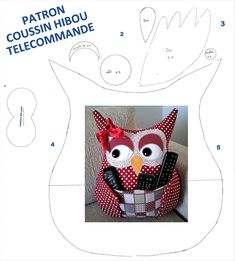 Diaporama PATRON COUSSIN HIBOU TELECOMMANDE | Galerie | Nafeuse'Magazine